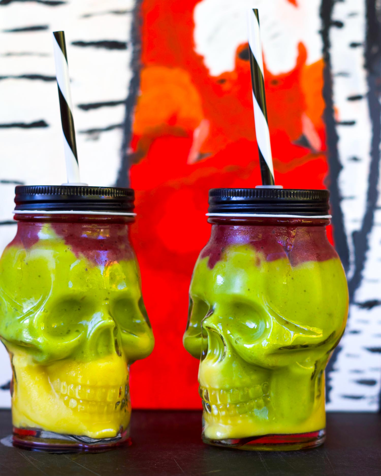 Easy Colorful Halloween Smoothies by Beautiful Ingredient