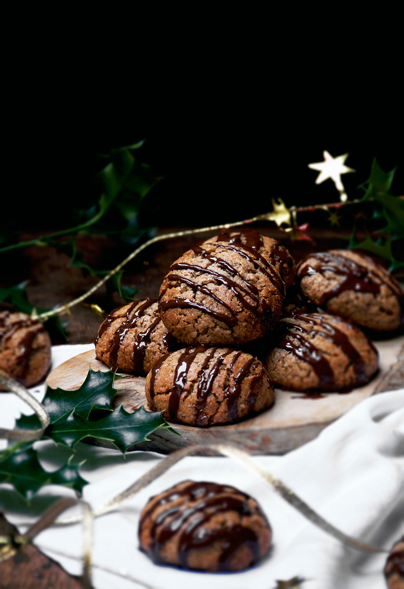 Vegan Lebkuchen (German Spiced Cookies) by Alexandra of Occasionally Eggs