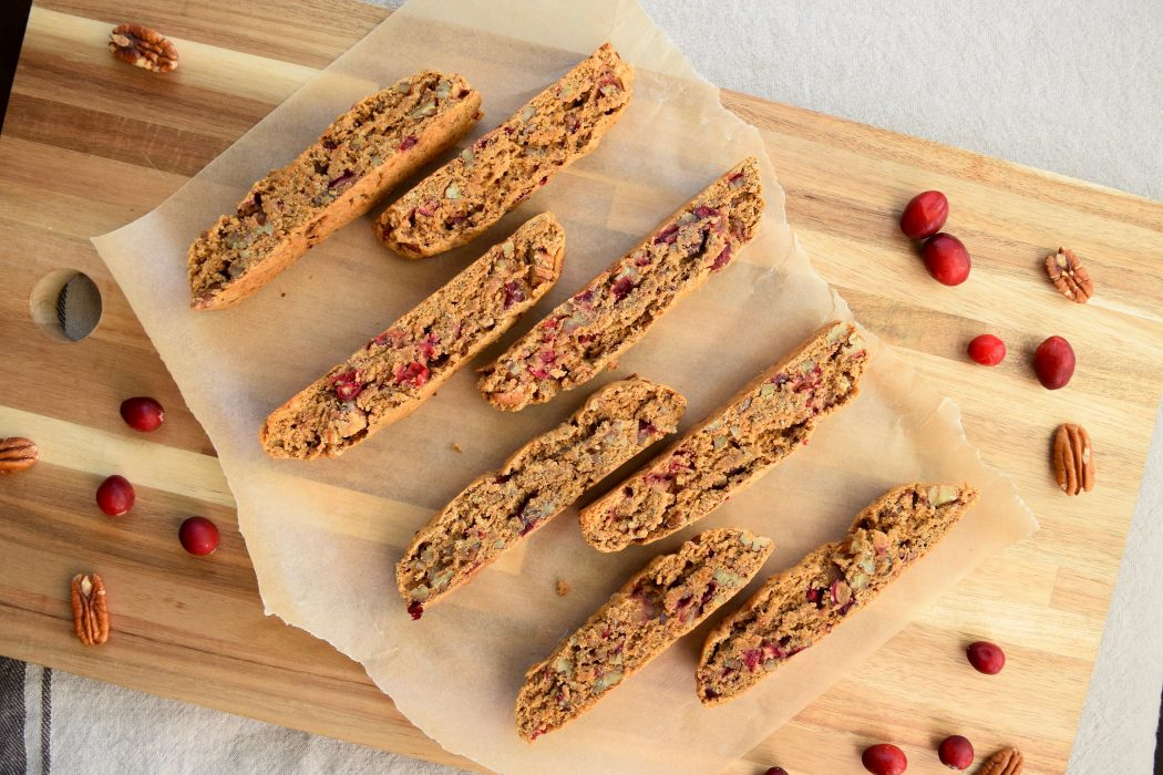 Vegan Cranberry Pecan Biscotti by Nicole of Earth Powered Family