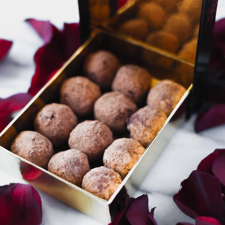 Chocolate Macadamia Truffles | Vegan | Sweetened with Monkfruit