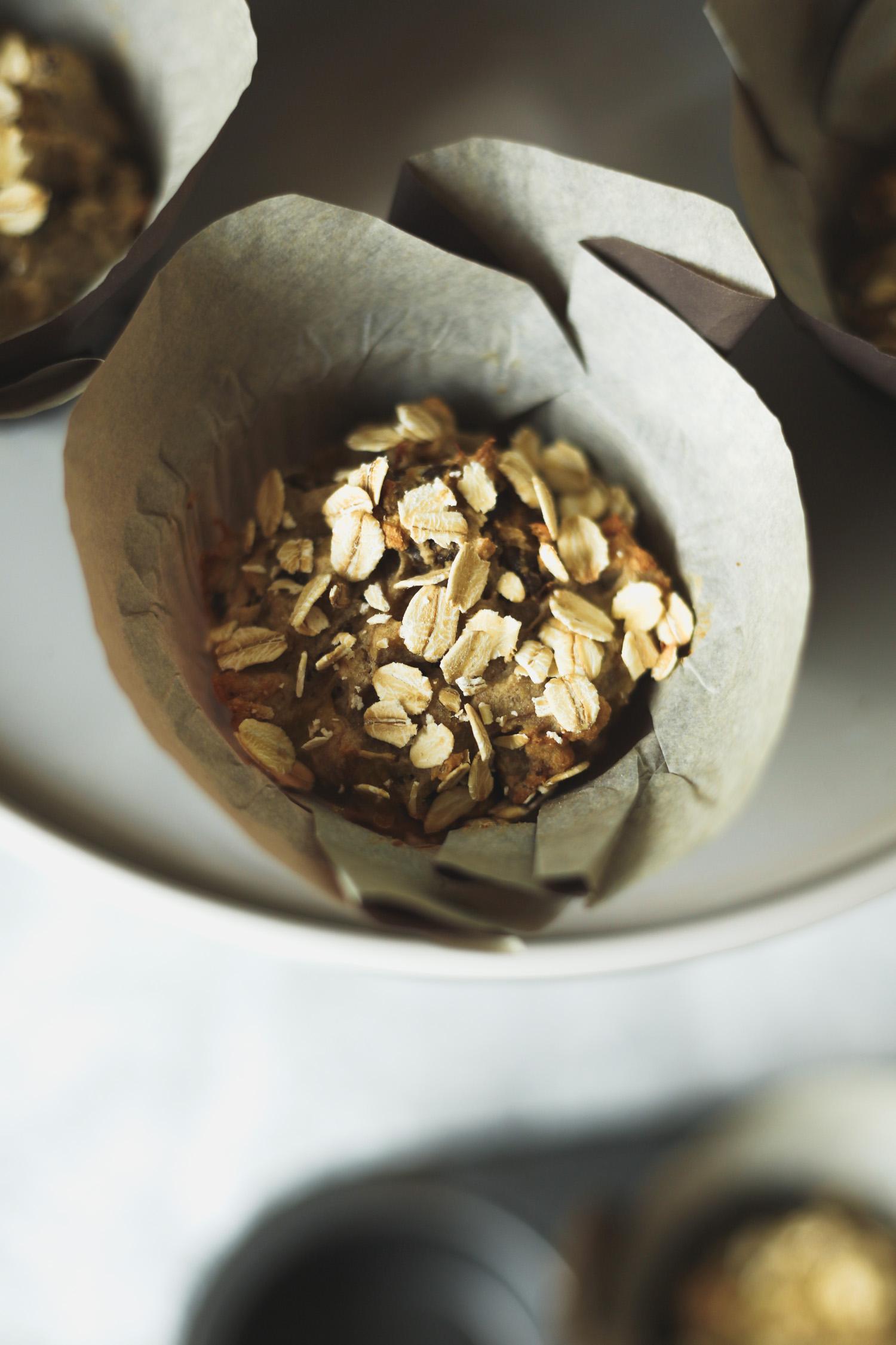 Healthy Breakfast Muffins from The Veginner's Cookbook. Photo by Kari of Beautiful Ingredient. Vegan