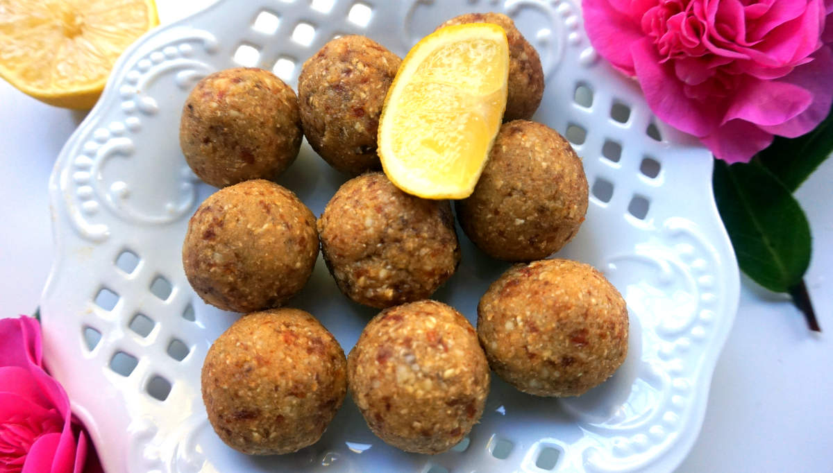 Zesty Lemon Energy Balls, GF vegan | Healthy & Psyched