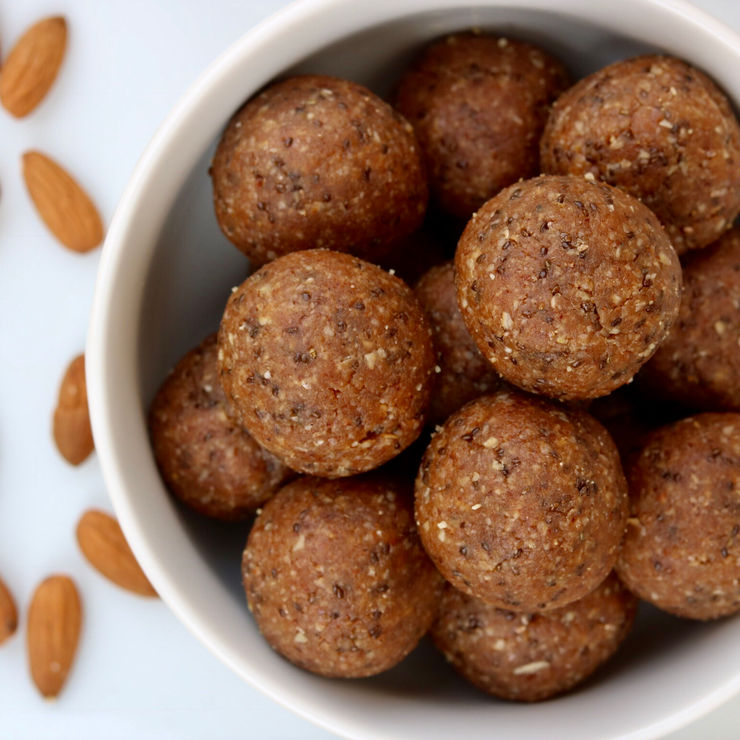 Almond Butter Energy Balls, GF Vegan | Feenin For Greens