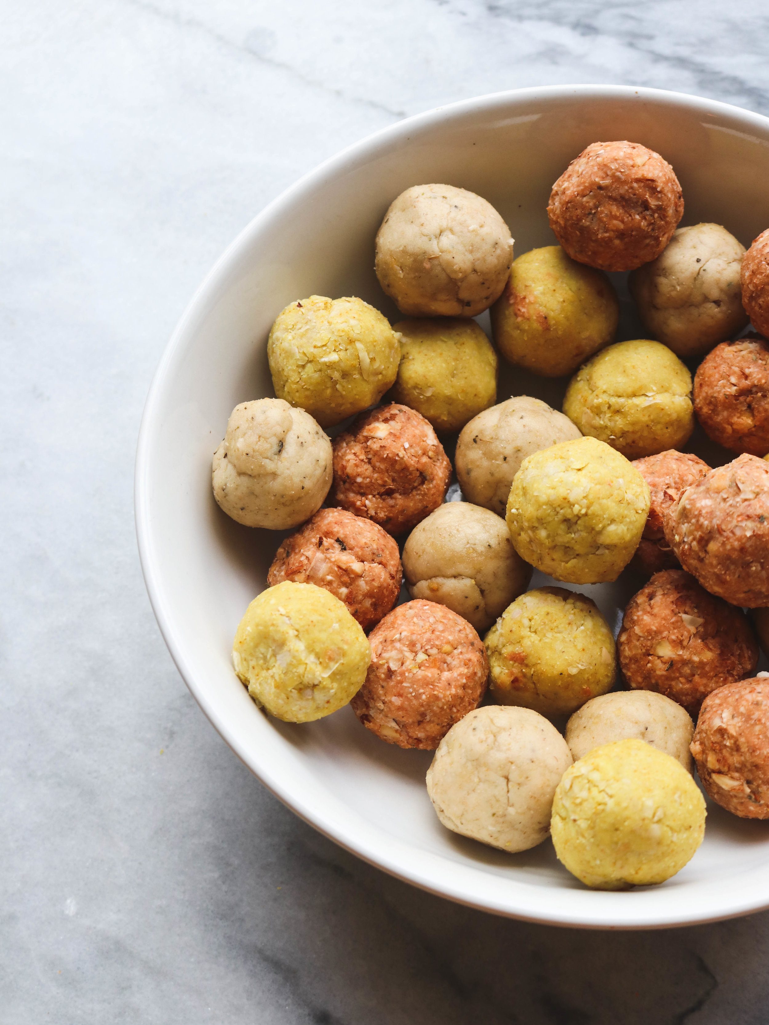 Three Savory (yes, savory!) Energy Ball Recipes, GF VEgan | From My Bowl