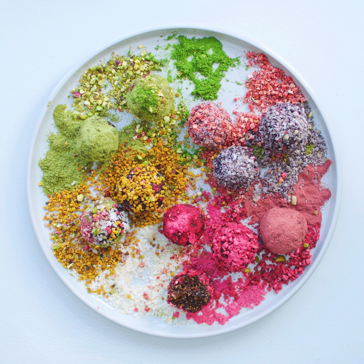 Rainbow Bliss Balls, GF Vegan | A Million Miles