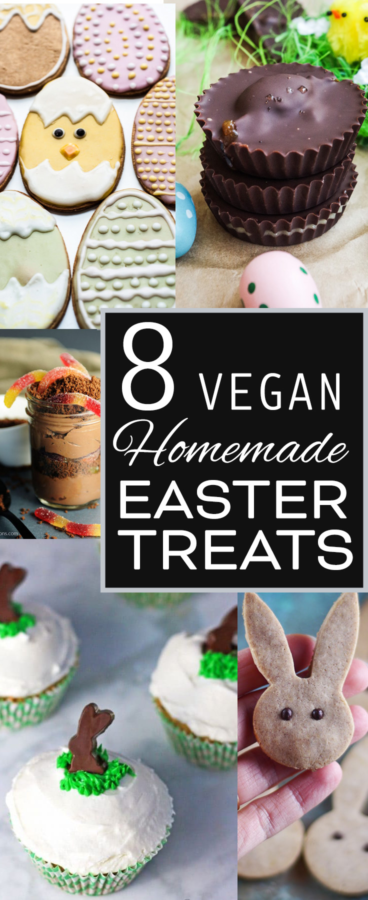 8 Vegan Treat Gifts for Easter & Other Spring Celebrations, Collected by Beautiful Ingredient. #eastertreats #easter #bunny #rabbit #easterdesserts #veganeaster #veganeasterrecipes #eastergifts #eastervegan #veganeastergifts #homemadeveganeaster