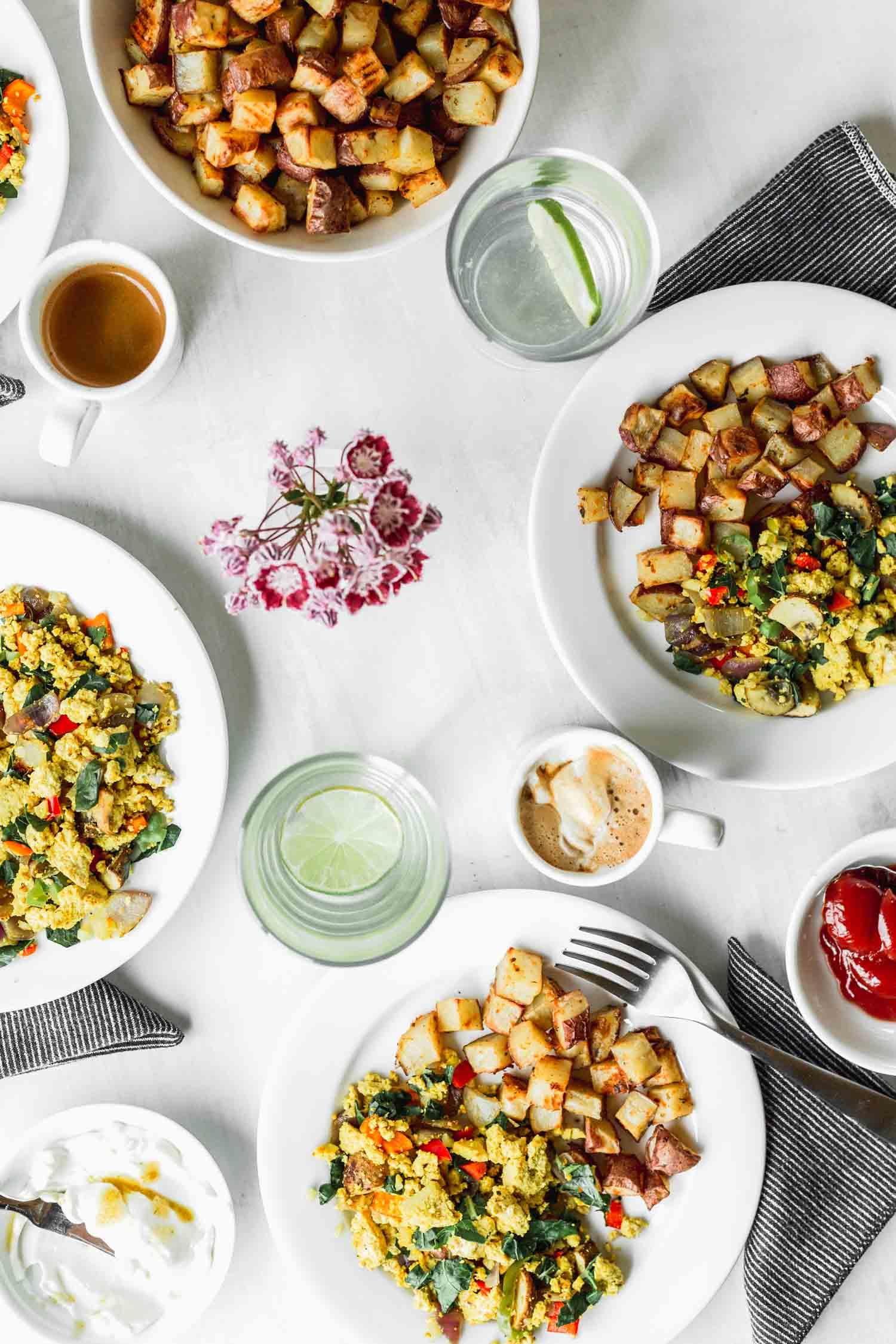Veggie-Packed Scrambled Tofu recipe & photo by Beautiful Ingredient. vegan | gluten-free | oil-free | easy | veggie-packed | 30 minutes or less | breakfast | brunch