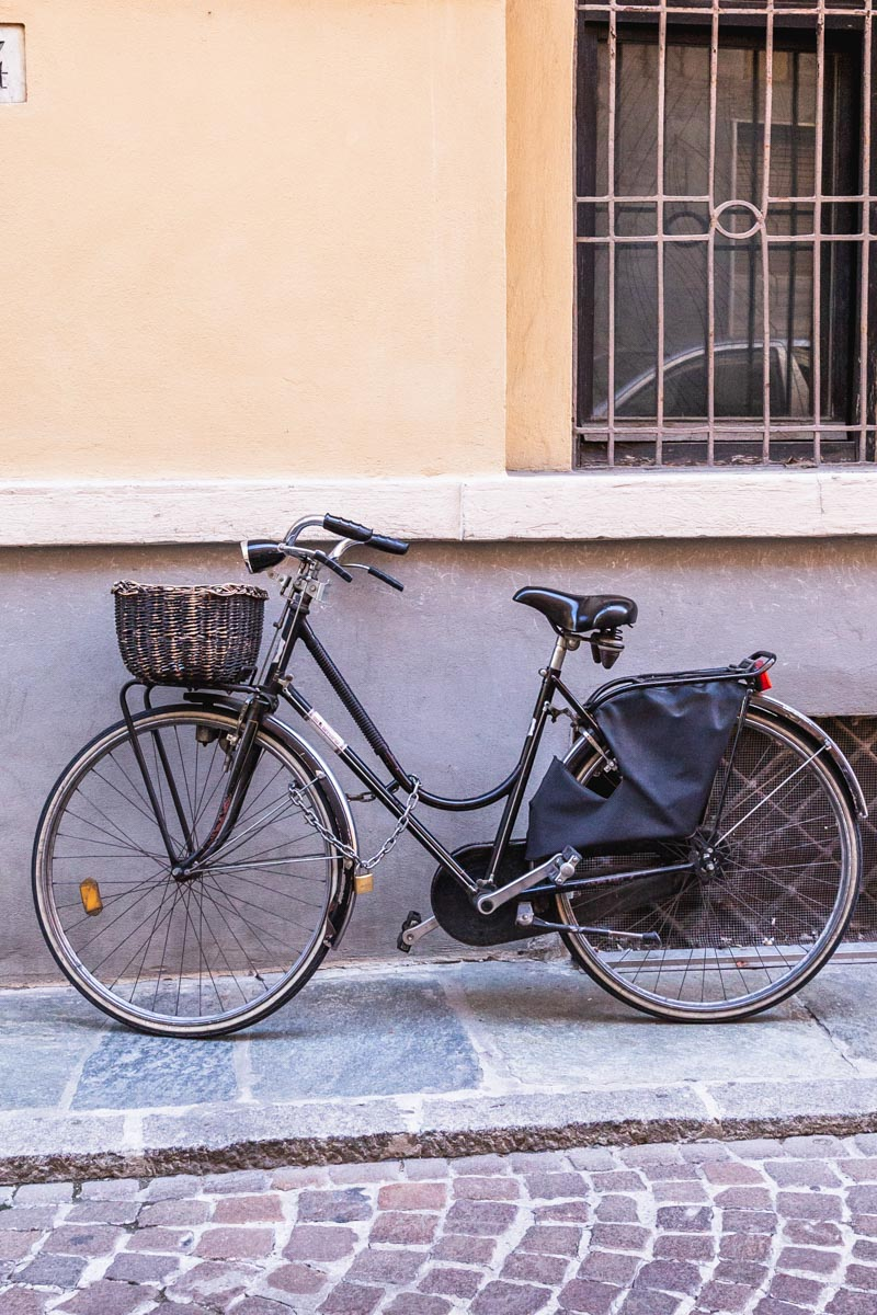 Quaint, basketed utility bicycles are common in Italy, especially in towns where cars aren't allowed. Photo by Kari | Beautiful Ingredient.