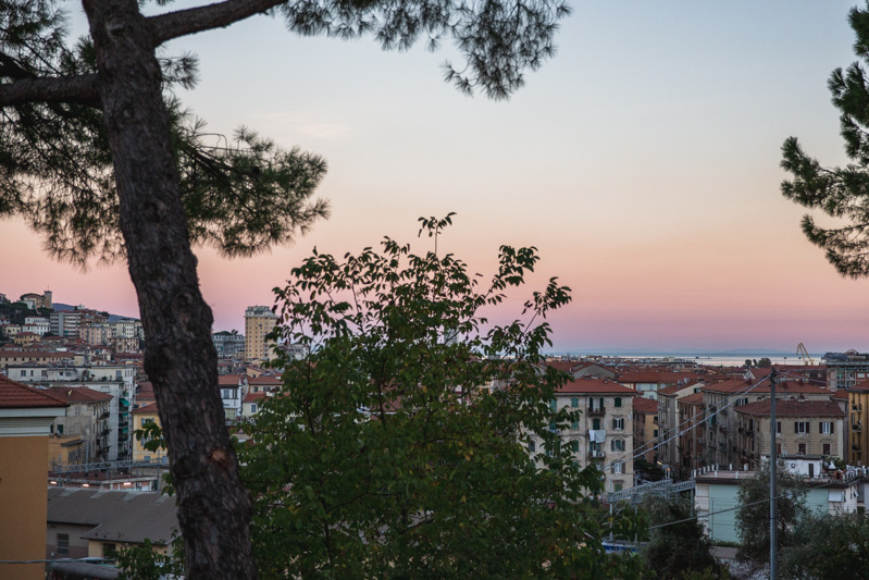 Overlooking La Spezia, Italy at sunset. Photo by Kari | Beautiful Ingredient.