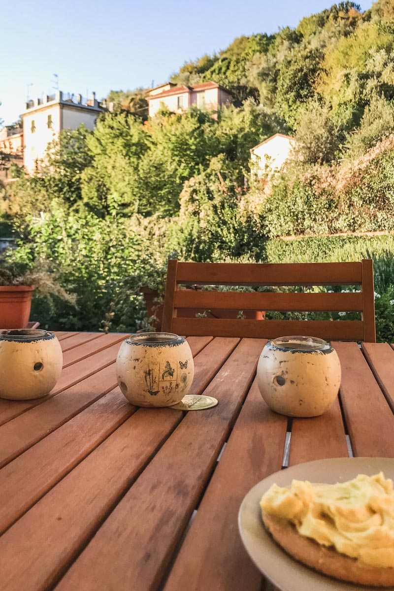 Breakfast view in La Spezia. Photo by Kari | Beautiful Ingredient.