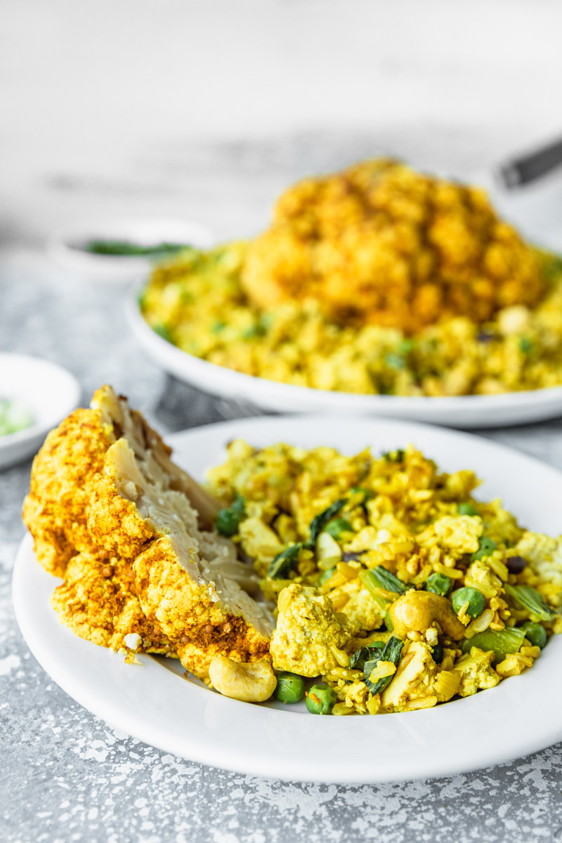 Quick & Easy Vegan Curry Fried Rice by Kari | Beautiful Ingredient. #vegan #dinner #curry #rice #friedrice #veganfriedrice #curryfriedrice #veganrice #tofu #tofufriedrice #vegandinner #quickandeasy #quickandeasyvegan #healthyrecipes #veganrecipe #curryrice #cashewrice #dairyfree #glutenfreevegan #oilfree