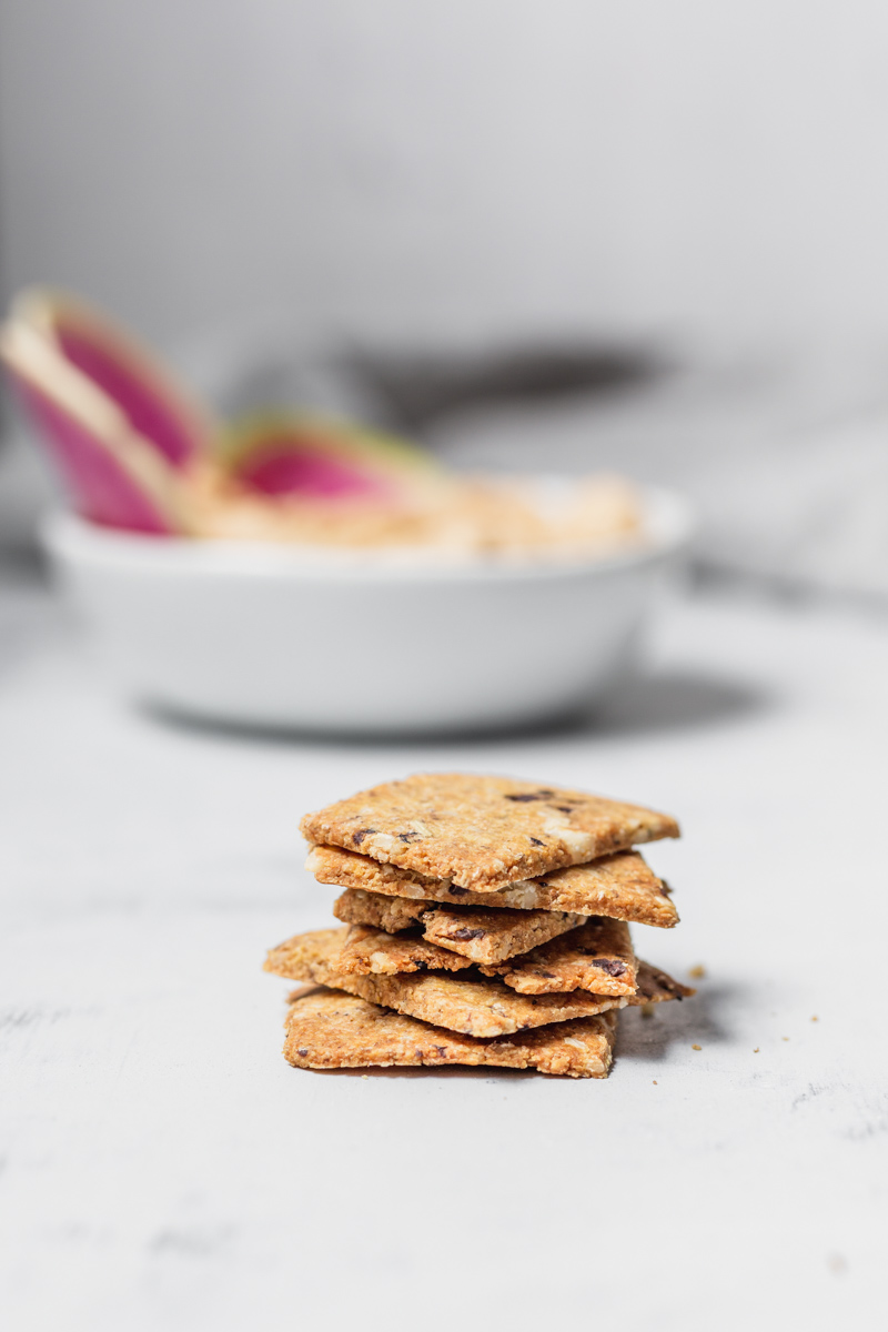 Home-baked Olive Crackers with Rosemary and Pine Nuts are so easy to make! #glutenfree #vegan #grain-free #cracker #olive #rosemary #pinenuts #oilfree #recipe #plantbased #snack #crackers #dairyfree #artisanal #homemadecrackers #crackerrecipe #beautifulingredient #easy #wfpb #nutrient-dense