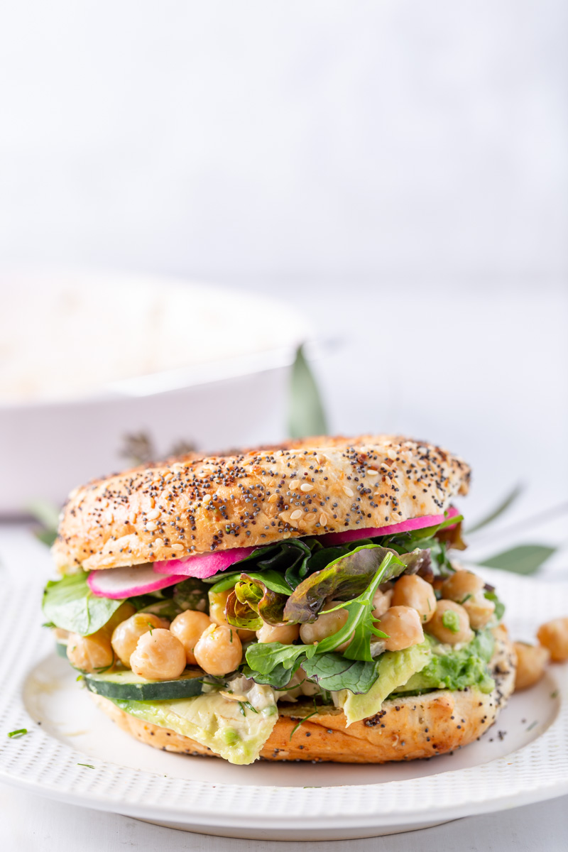 Quick & Easy Vegan Chickpea Salad with Lemon, Dill, & Jalapeño Relish by Beautiful Ingredient. #chickpeasalad #veganrecipe #dill #chickpea #garbanzo #veganlunch #vegansalad #springsalad #freshherb #veganblogger #dairyfree #dairyfreedressing #saladtopping #healthyrecipe #glutenfree #grainfree #quickrecipe #easyrecipe