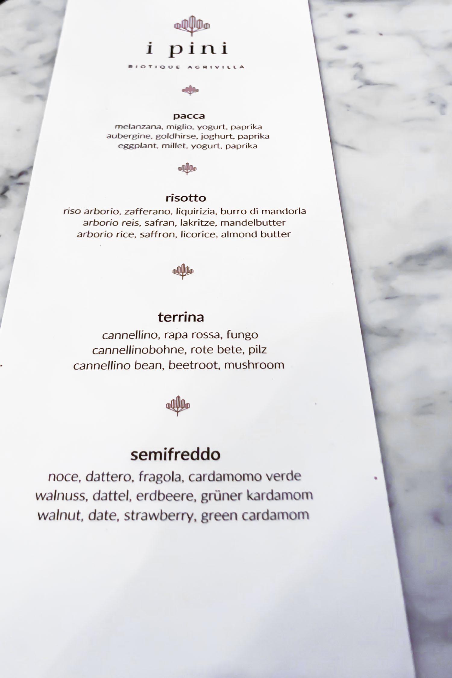 The menu changes daily at i pini, an organic vegan Italian farmhouse in Tuscany, Italy. #tuscany #travel #italy #italianfarmhouse #olivegroves #oliveoil #vineyards #italyinautumn #veganrestaurant #vegantravel #italytravel #veganitaly #vegantuscany #veganhotel #ecotourism #organichotel #veganhotel #veganretreat #veganbedandbreakfast #sangimignano