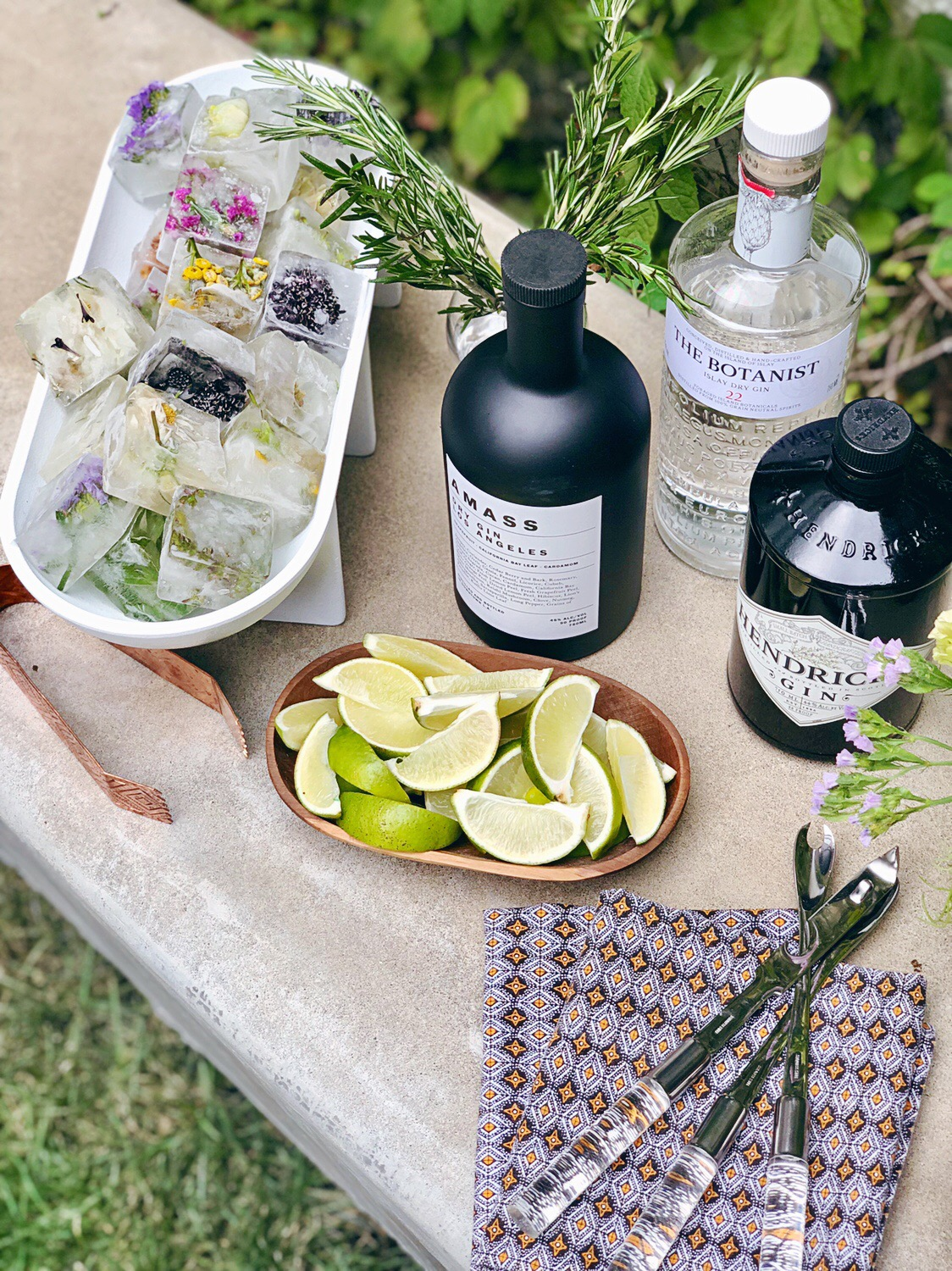 AMASS Los Angeles Dry Gin   ,    The Botanist    +    Hendricks Gin