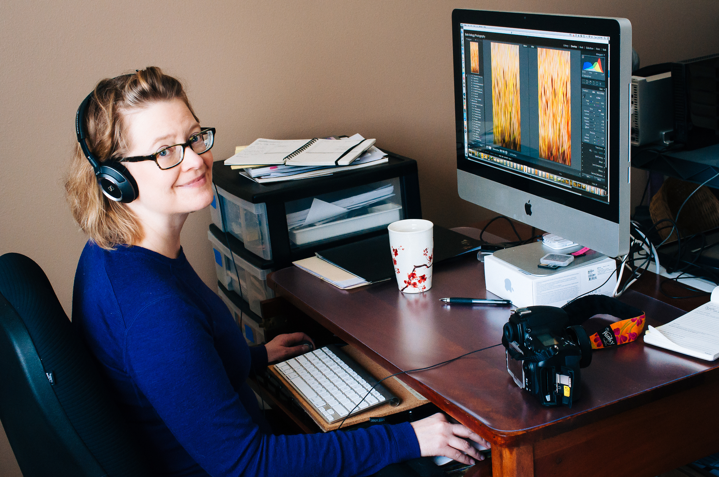 Part of my process of creating new images. Although I'm typically looking at my monitor, not the camera. :)