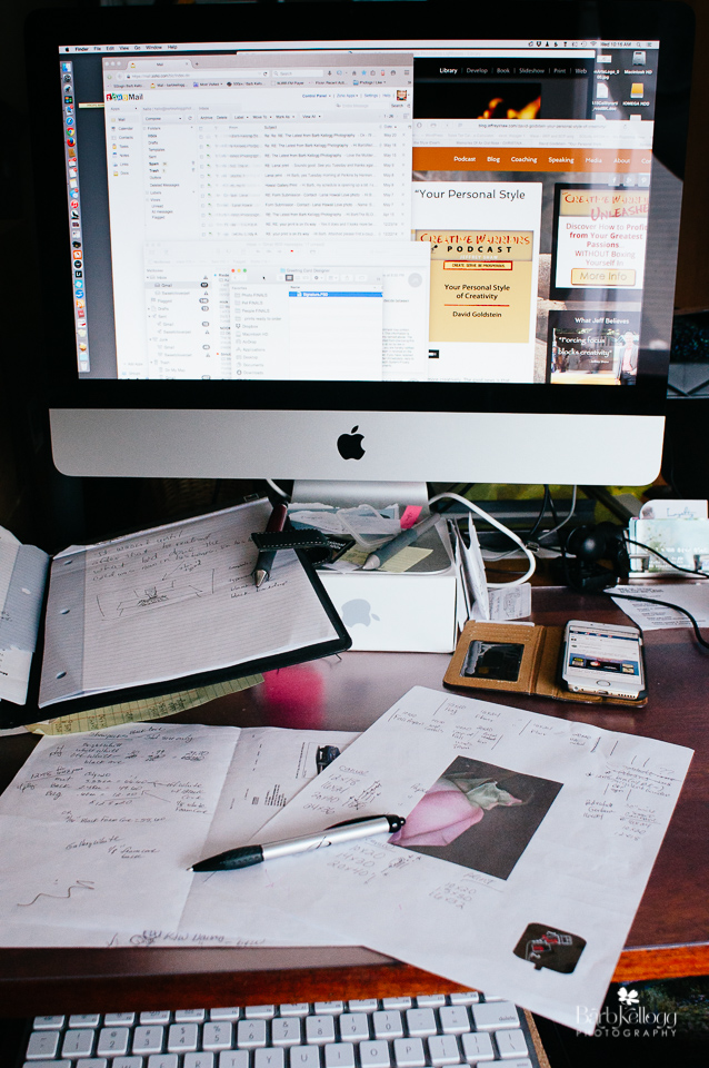 Multitasking hell. (Not typical of how I usually work. But some days....