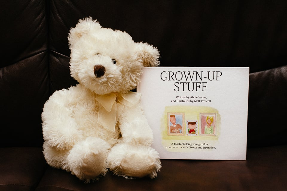 Grown Up Stuff, by Abbie Young, helps parents talk with their young children about divorce and separation.