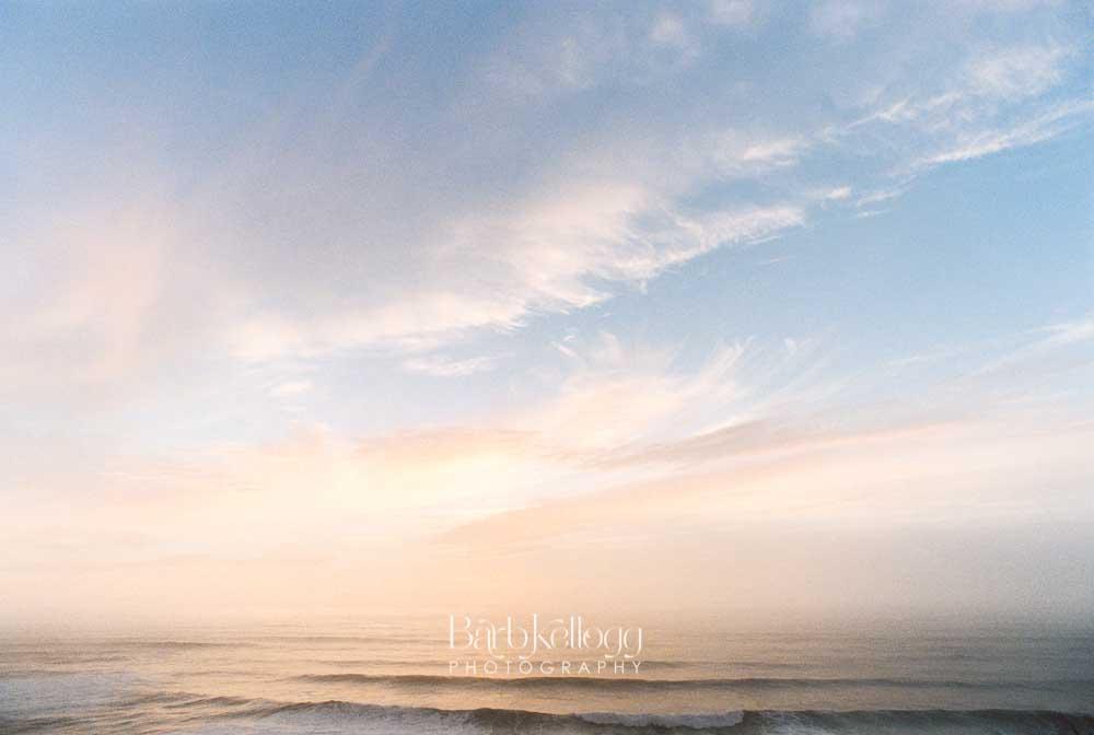 Waves at Sunset - Oregon
