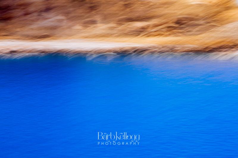 Abstract Blue Lake