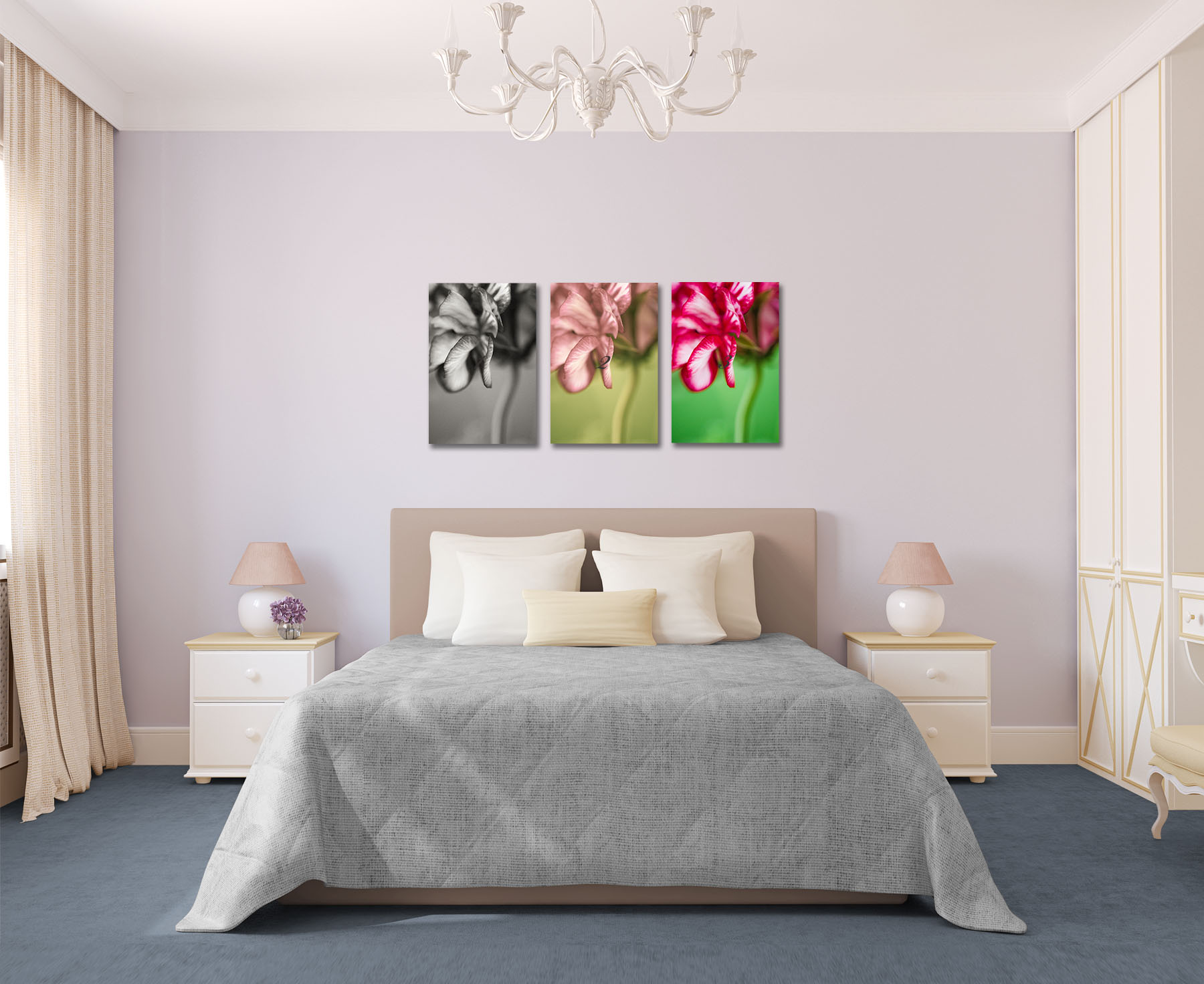 The Geranium Series as a Triptych (and any of the images can work together, not just these 3)