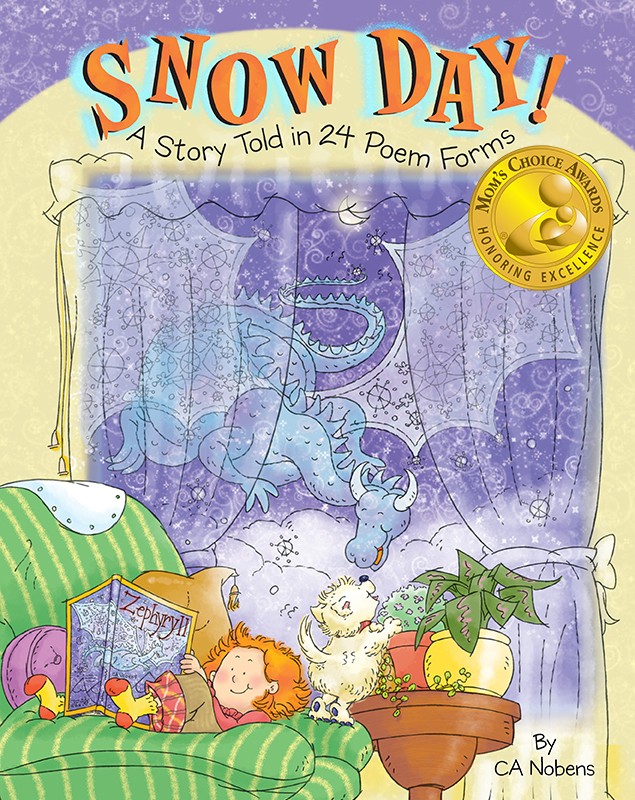 Cover of  Snow Day! A Story Told in 24 Poems Forms, written and illustrated by CA Nobens.