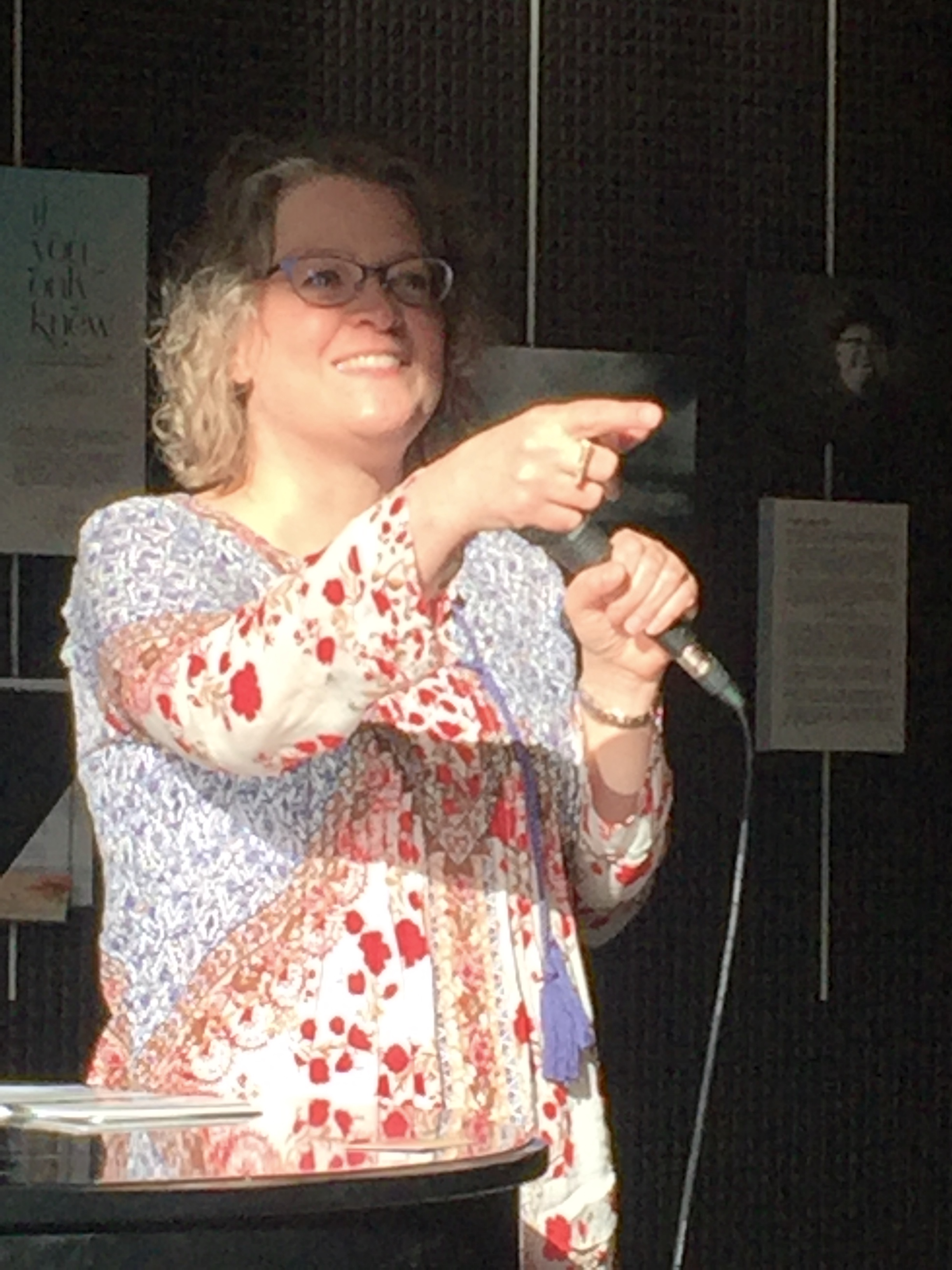 The audience asking questions - Not sure who I was pointing at or why….but I'm smiling, so it's all good. :)