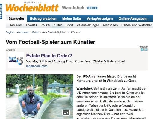 German, Hamburg News Article