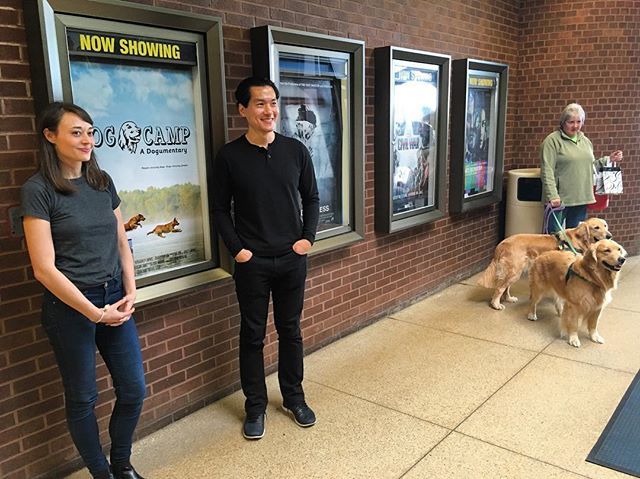 We had a great time screening yesterday! We even had some official Dog Camp dog stars show up!  #documentary #dogs #film #goldenretriever #rescuedog #dogstagram #fundraiser #woof #bark