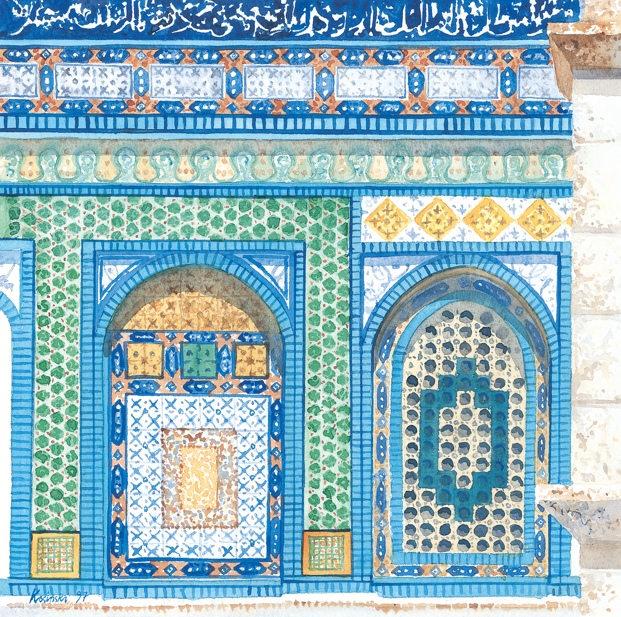 Tiles on Dome of the Rock