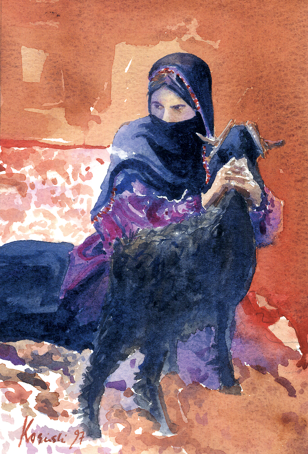 Bedouin with Goat