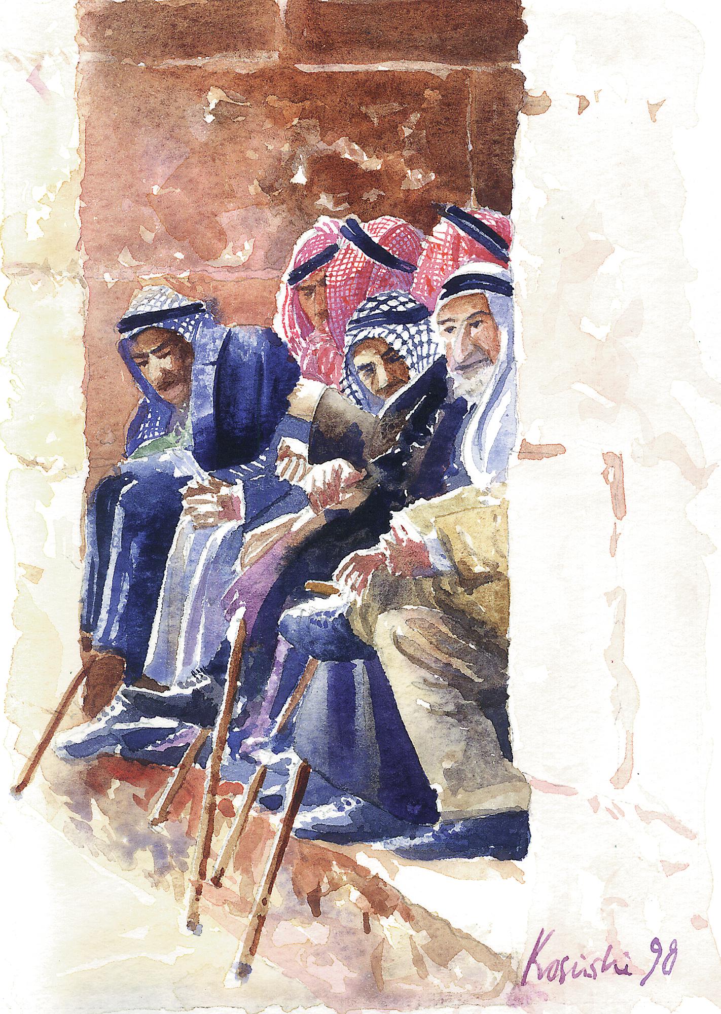Elders at the Gate, Jerusalem