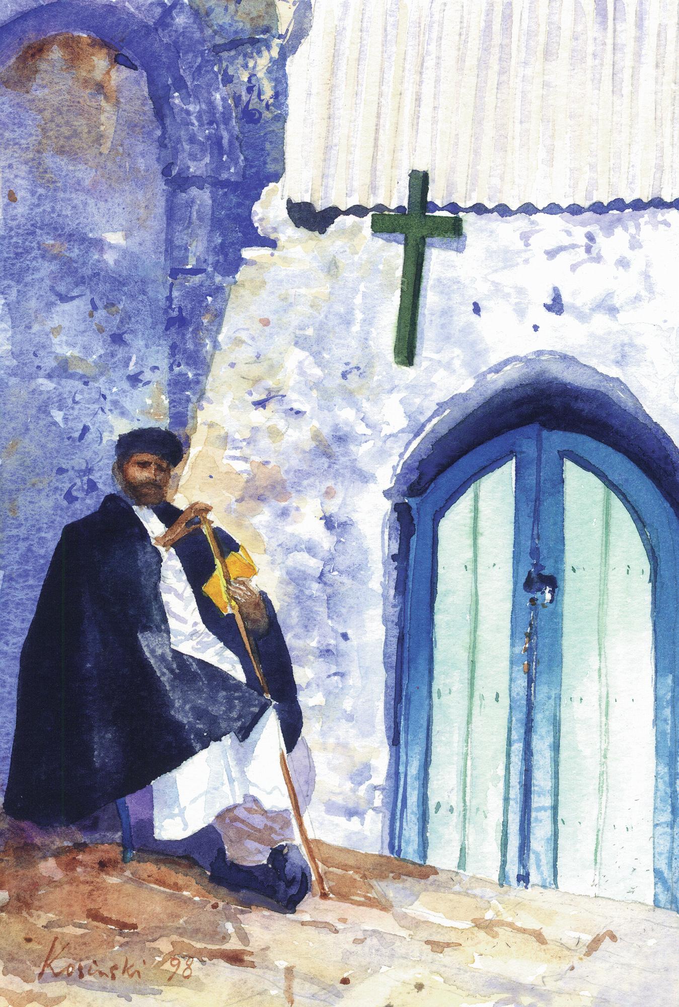 Ethiopian Monk, Jerusalem