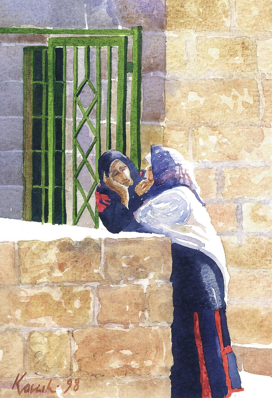 Gossip on Haram al-Sharif, Jerusalem