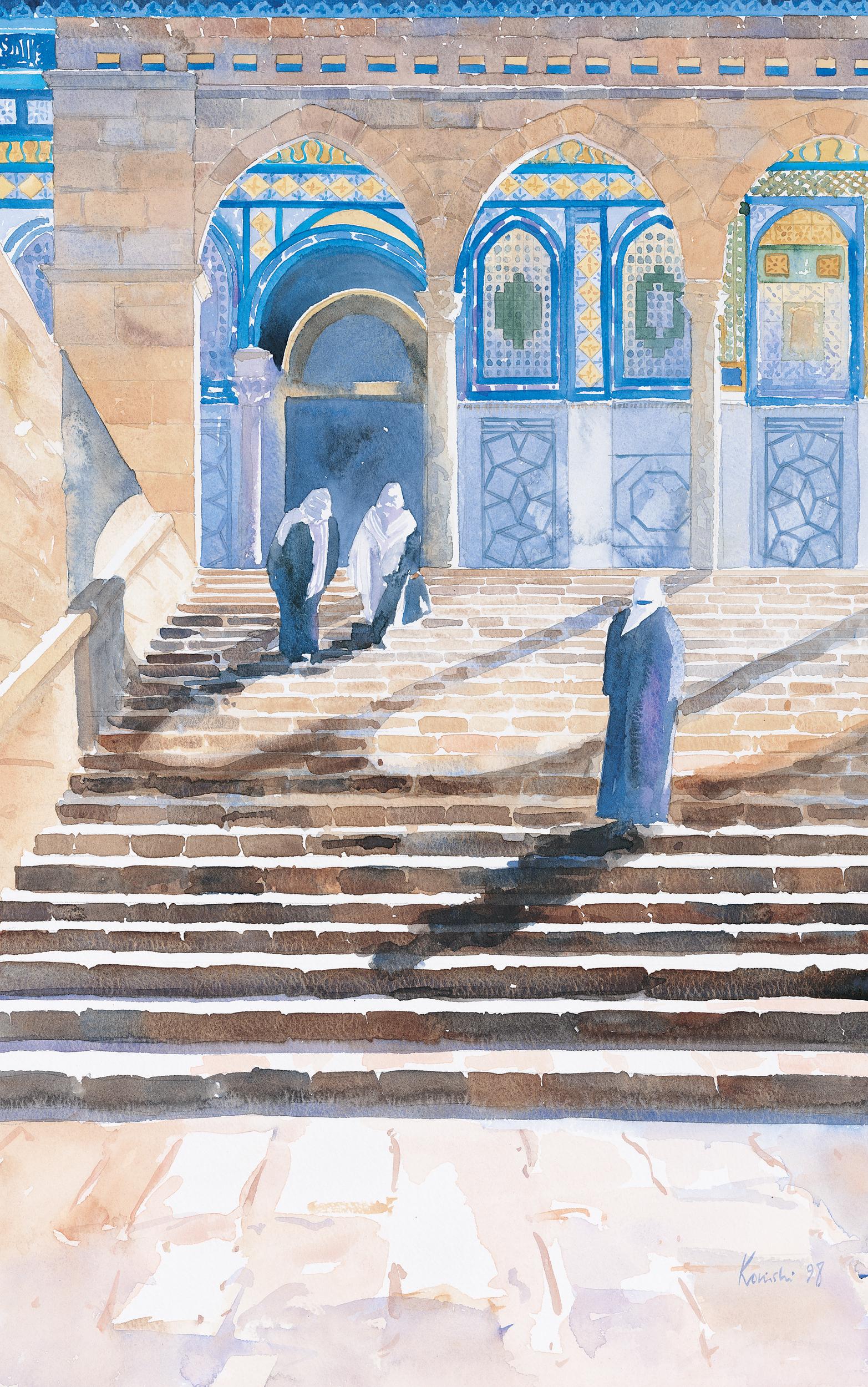 Steps on Haram-al Sharif
