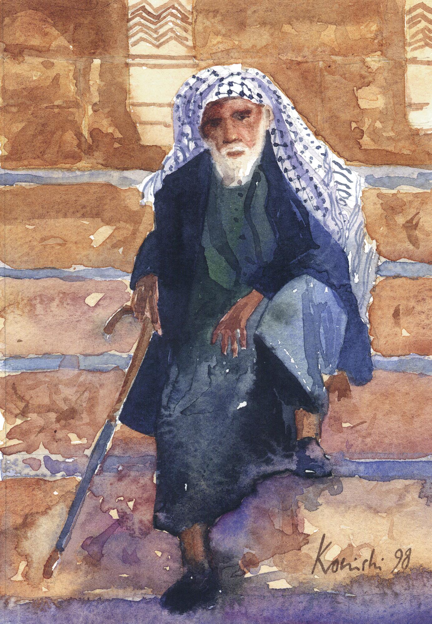 Palestinian on Temple Mount, Jerusalem