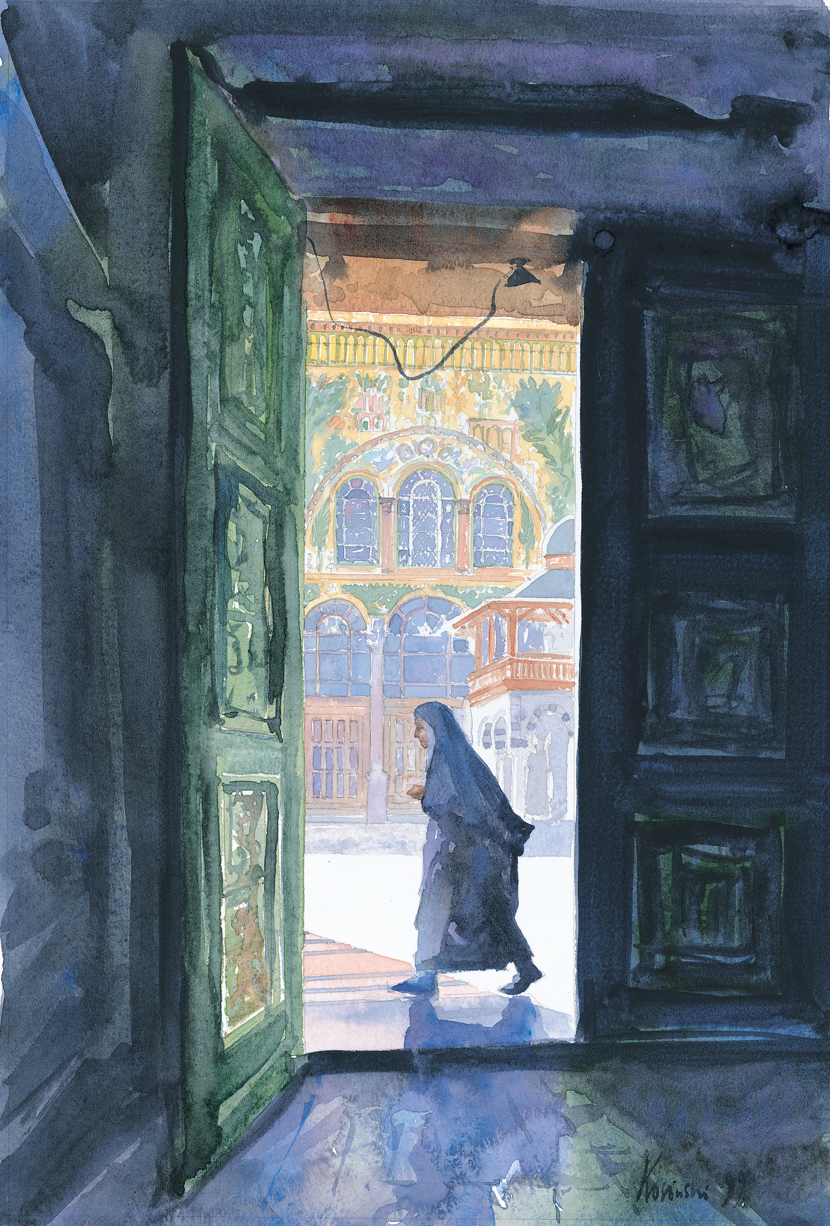 Door to Ommayad Courtyard, Damascus