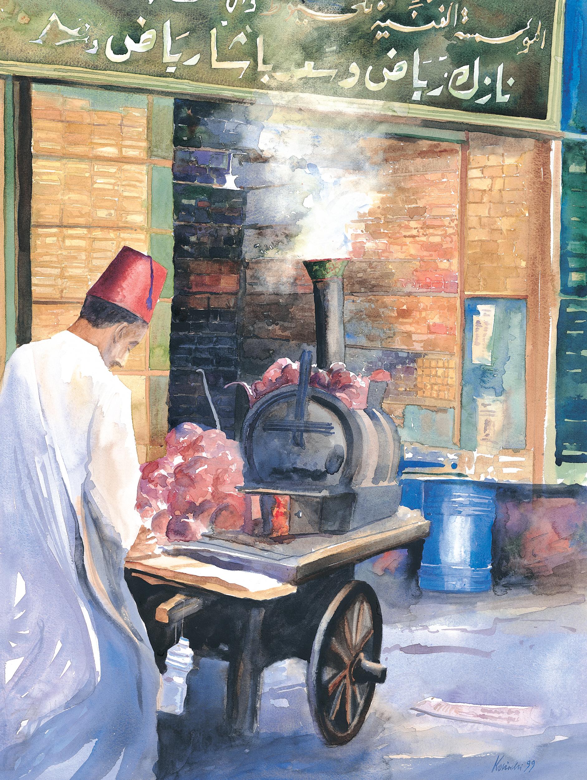 Baked Potato Seller, Cairo