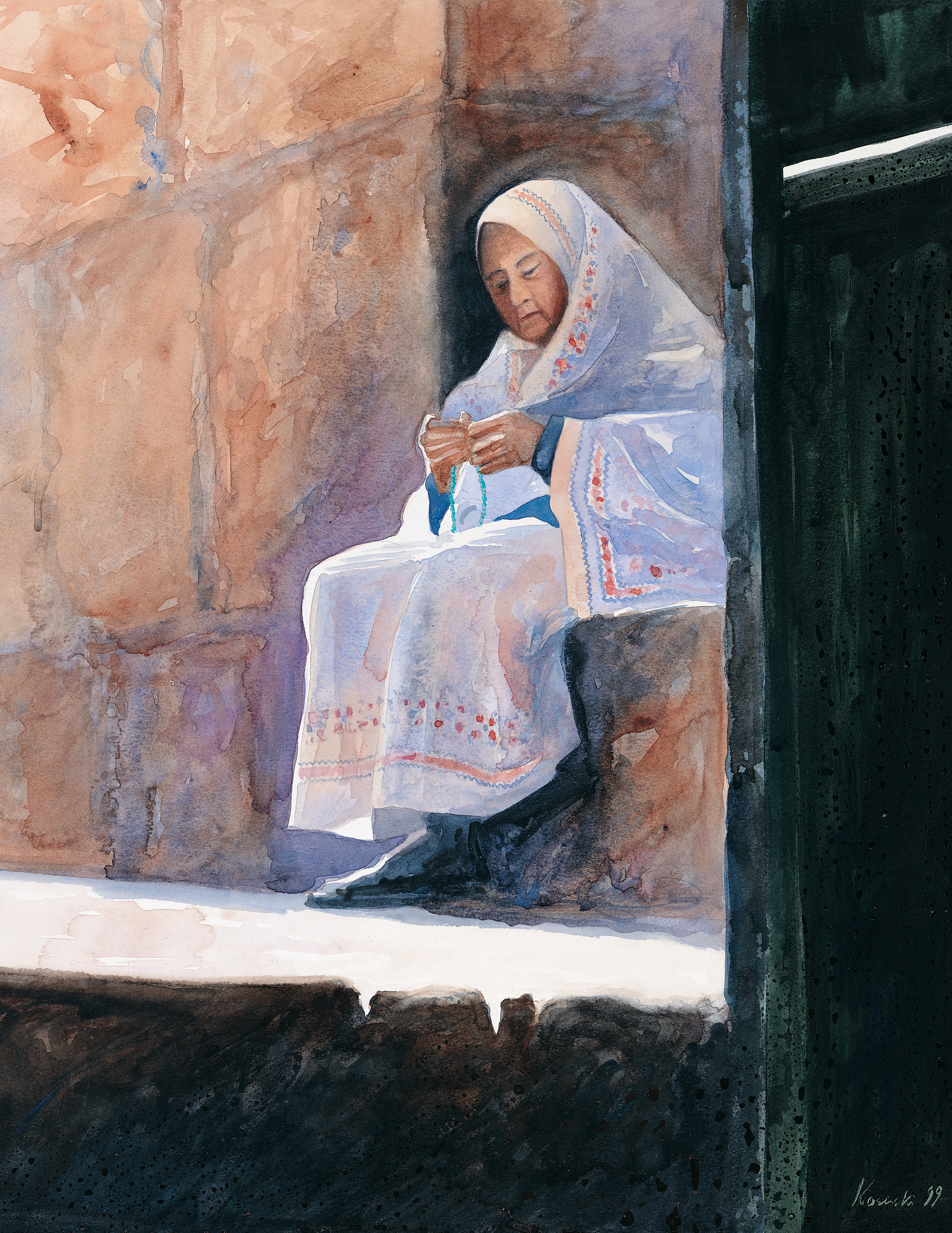 Lady by the Gate, Jerusalem