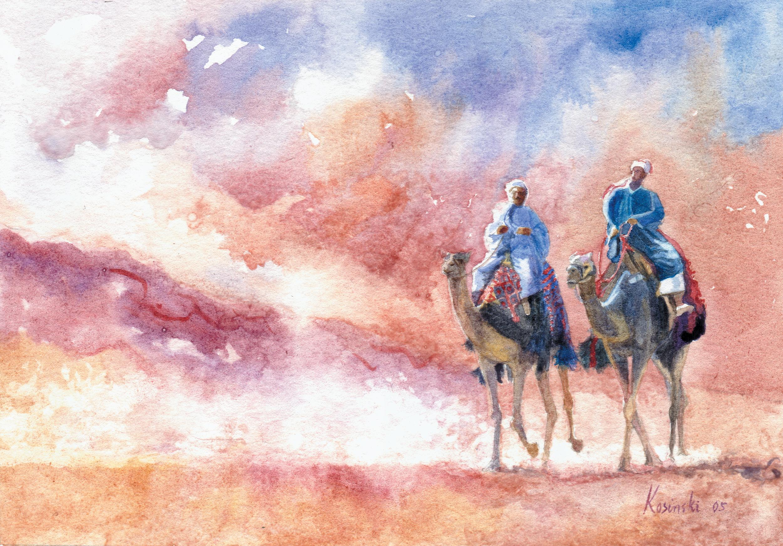 Camel Riders, Giza