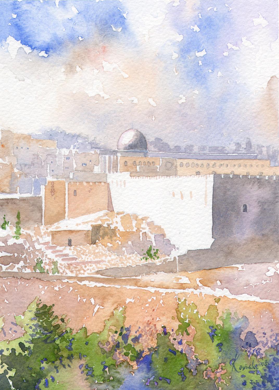 Jerusalem from the Jericho Rd.