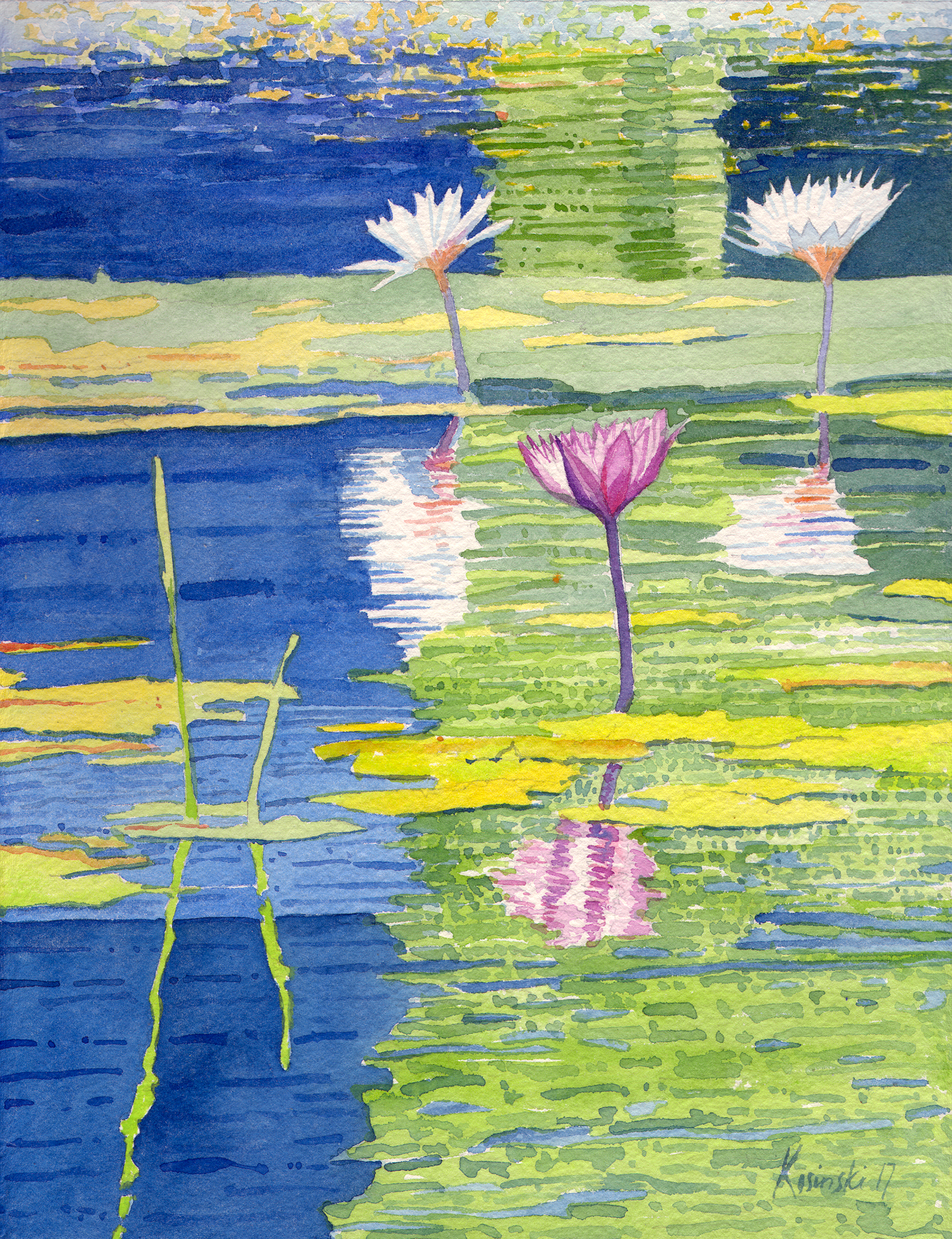 Water Lilies, Brookgreen Gardens, SC (sold)