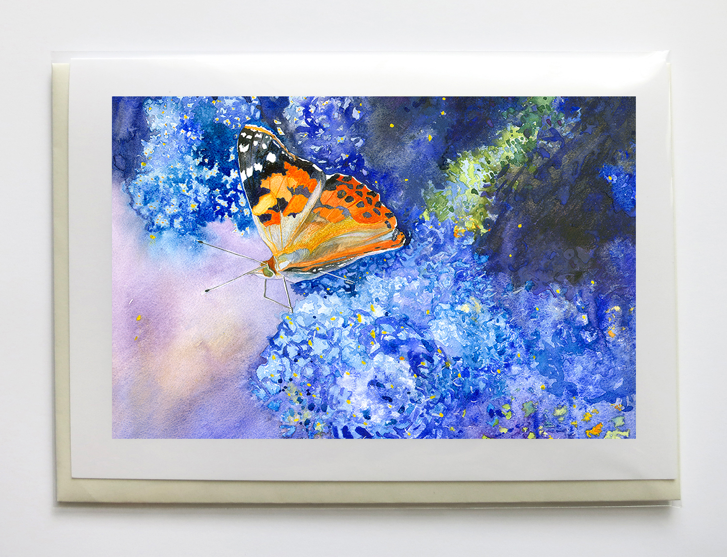 """butterflies - 5"""" x 7"""", signed, frame-able, gicleé greeting cards$6.95 each or $25 set of five"""