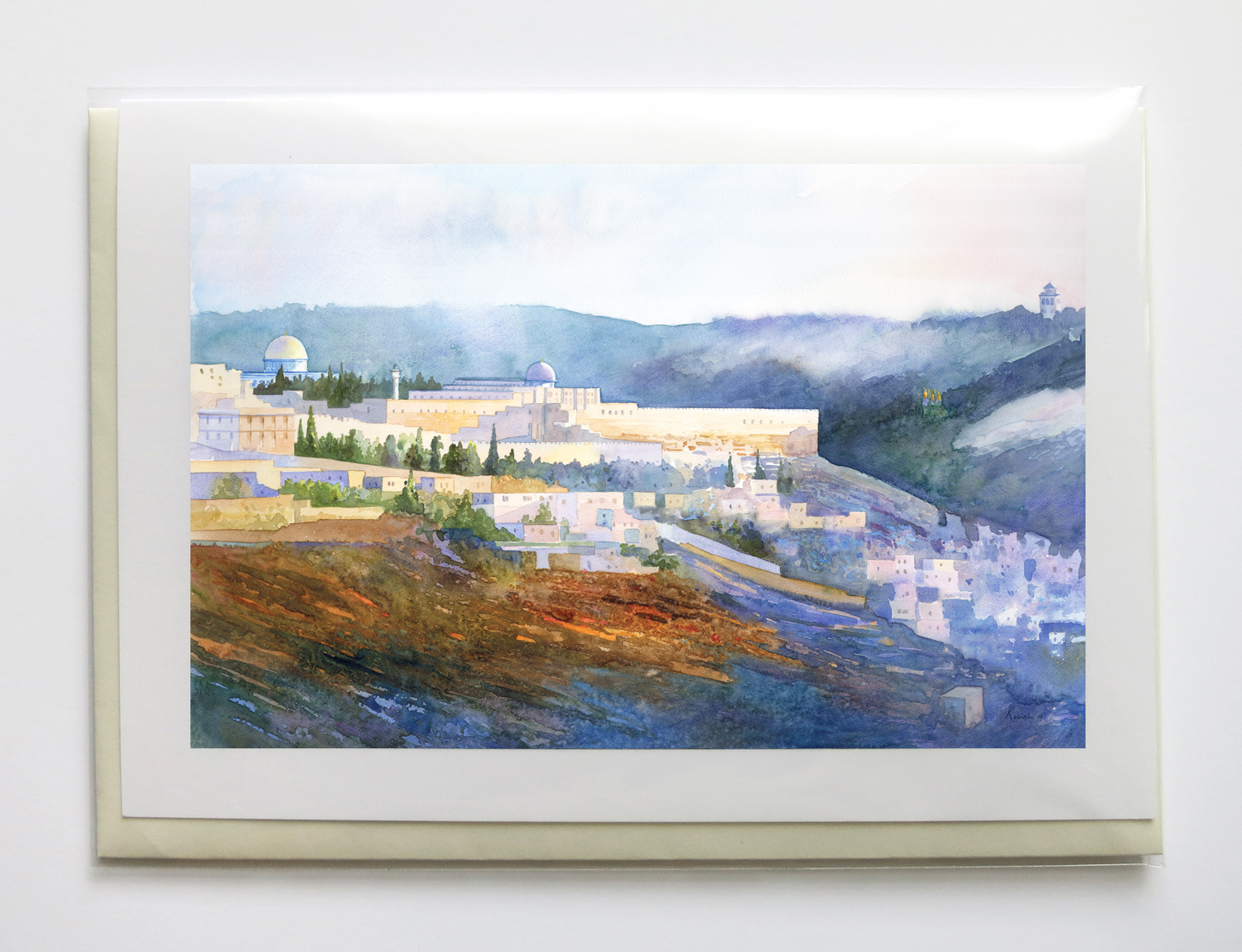 """holy land - 5"""" x 7"""", signed, frame-able, gicleé greeting cards$6.95 each or $25 set of five"""