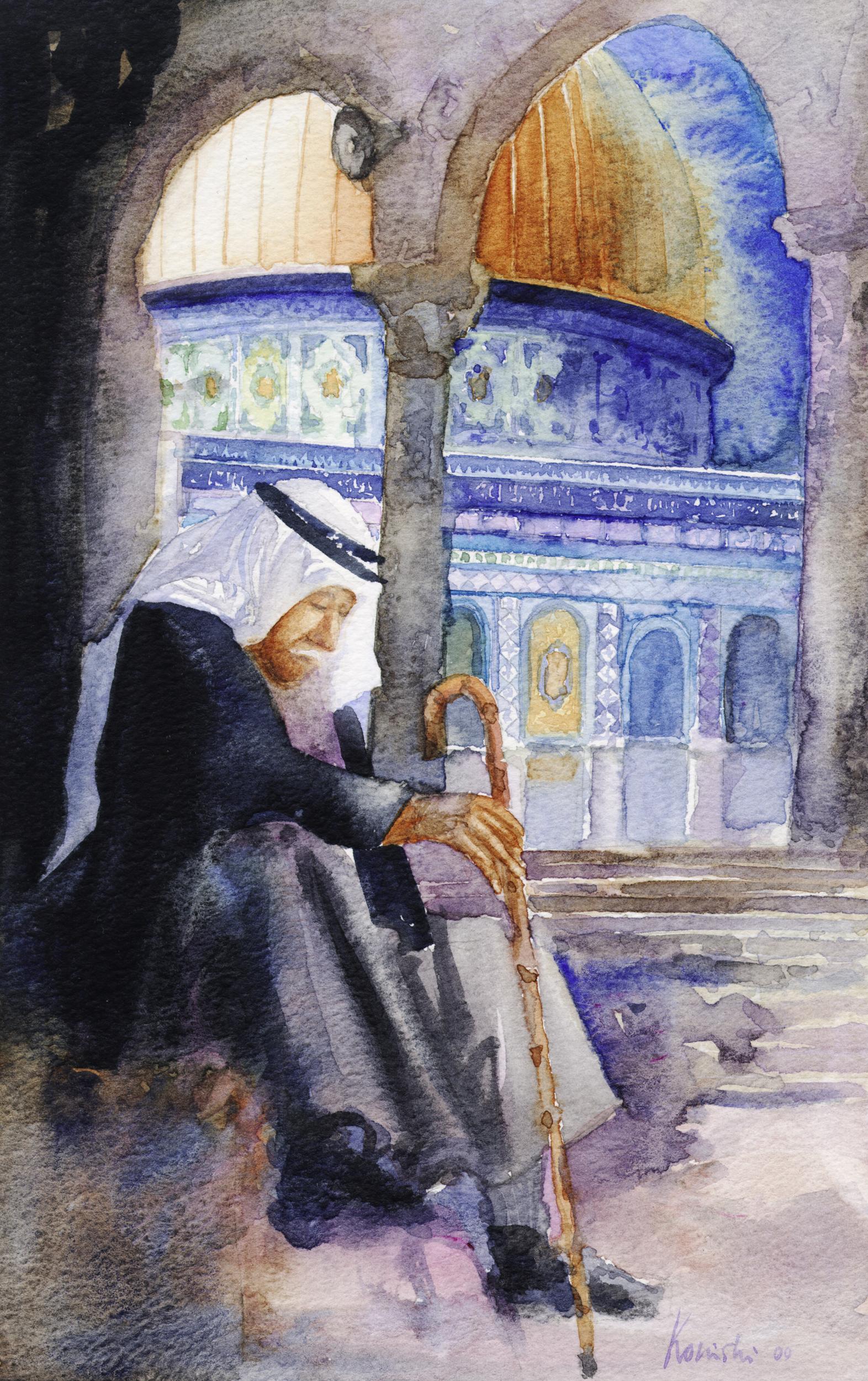 Palestinian Resting in Jerusalem