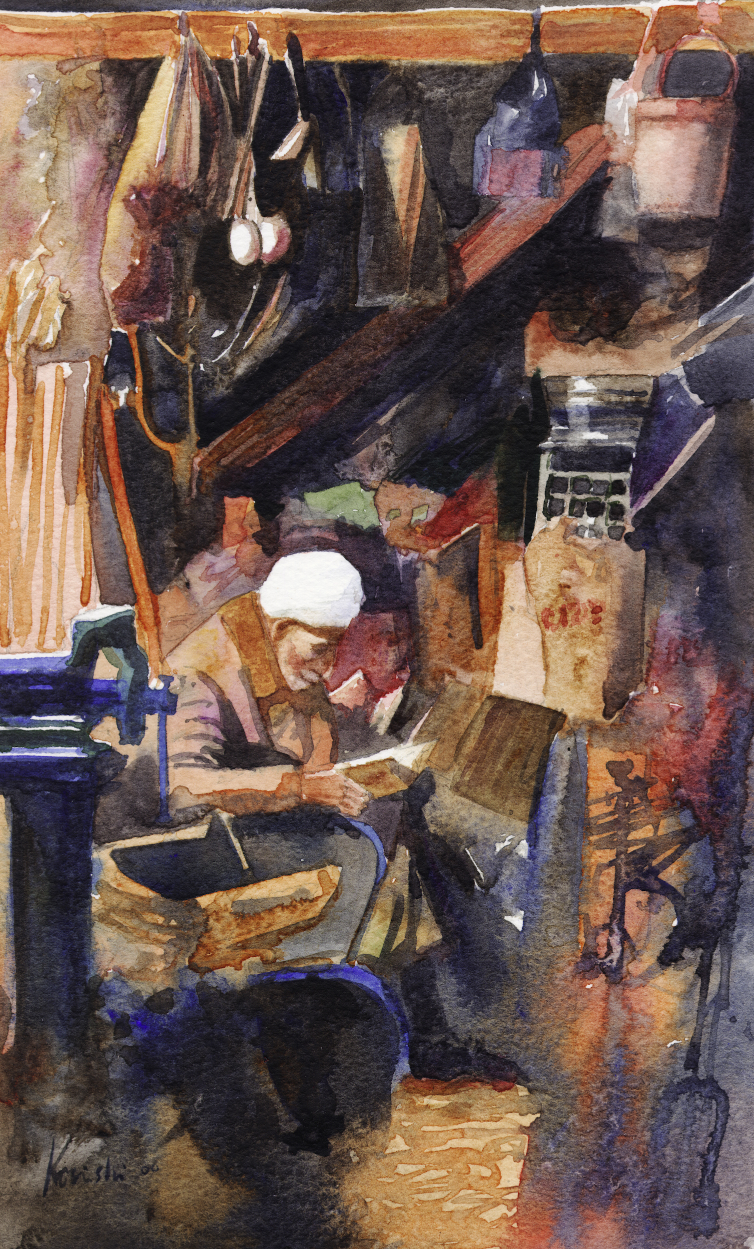 Old Craftsman in Damascus