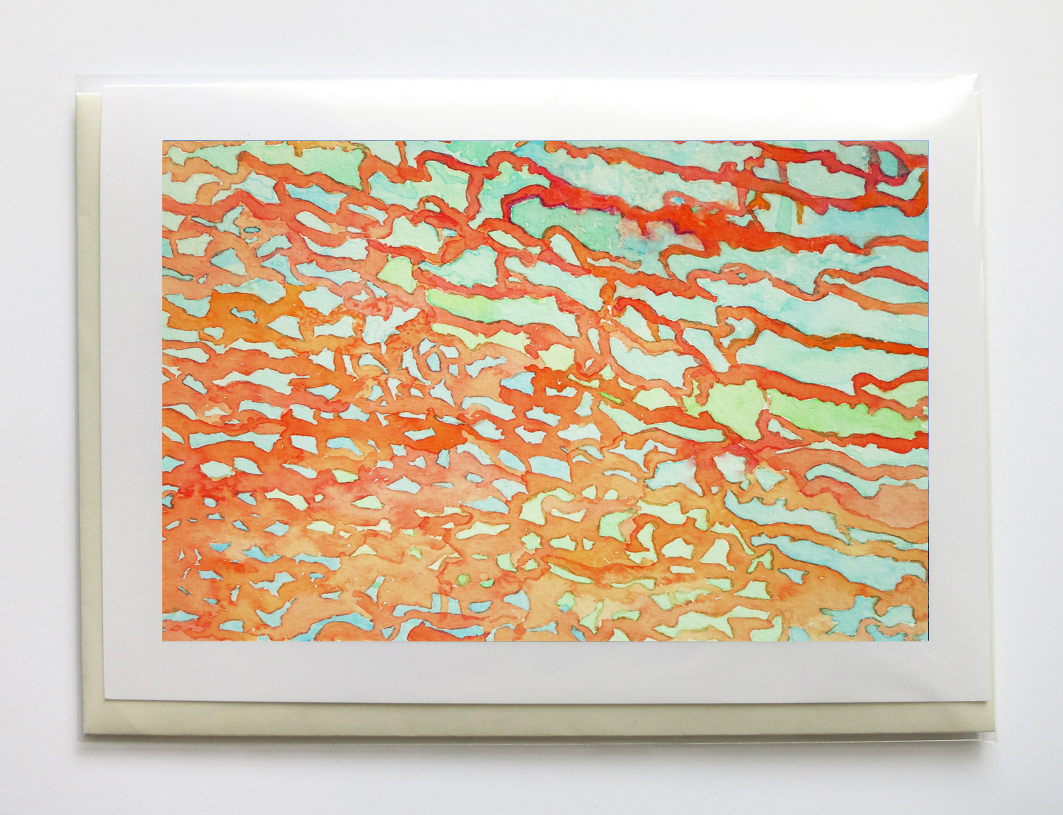 """ABSTRACT - 5"""" x 7"""", signed, frame-able, gicleé greeting cards$6.95 each or $25 set of five"""