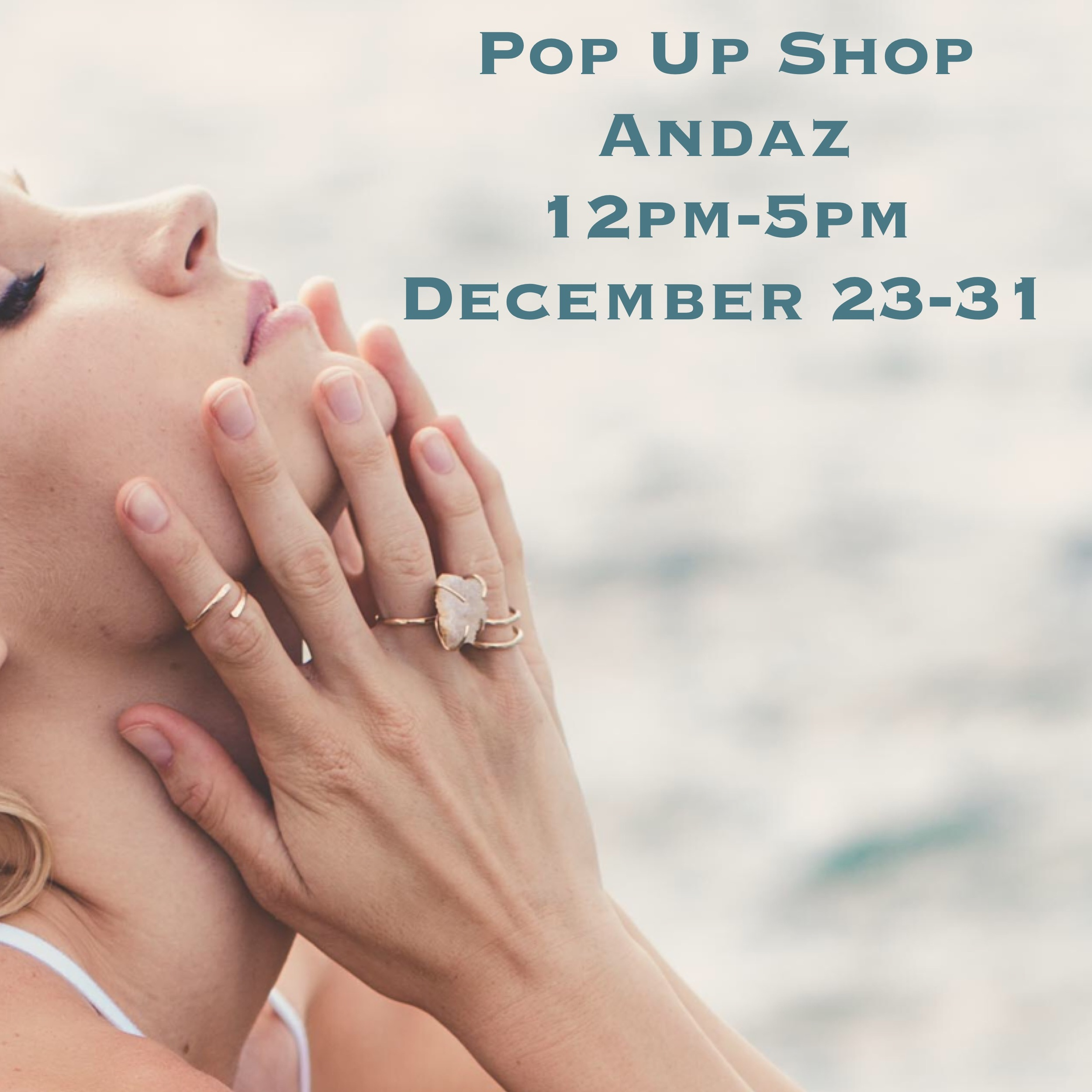 We will be at Andaz Wailea for their 8 Day Pop Up Shop from 12-5 starting December 23rd 2015. Come check us out and many other great Maui designers.