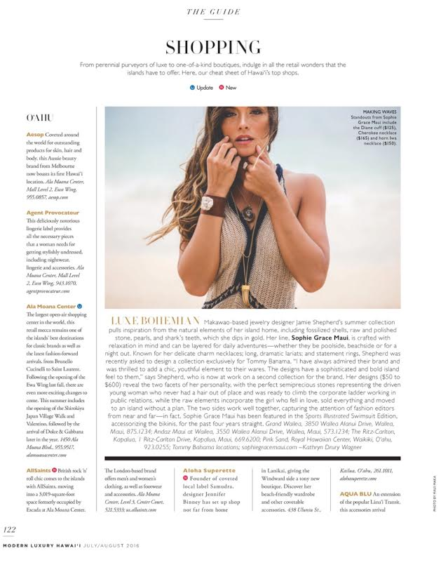 Modern Luxury Hawaii July//August Issue 2016