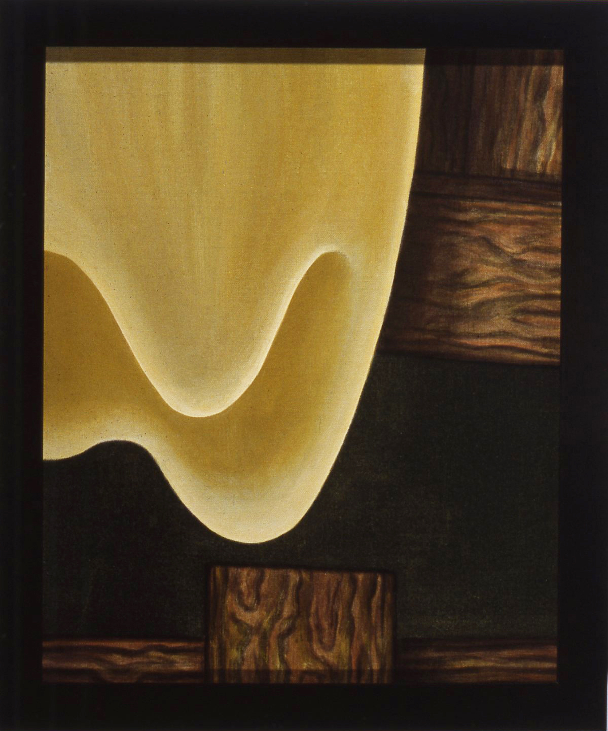 The Tooth,   1989 Pigment, acrylic polymer, ground gold leaf, and gesso on linen-mounted panel